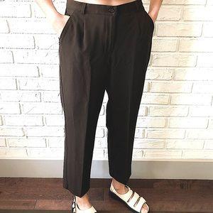 Vintage high waist loose straight leg trousers